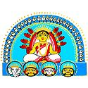 Devi Durga with Family - Photographic Print of Jamini Roy Painting
