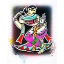 Dancing Girl - Photo Print of Jamini Roy Painting