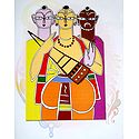 Baul Singers - Photo Print of Jamini Roy Painting