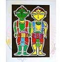 Vaishnavas - Devotees of Krishna - Photo Print of Jamini Roy Painting