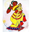 Mother and Child - Photo Print of Jamini Roy Painting