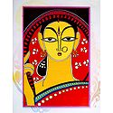 Bengali Woman - Photo Print of Jamini Roy Painting
