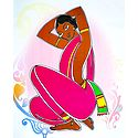 Santhal Woman - Photo Print of Jamini Roy Painting