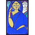 Three Women - Photo Print of Jamini Roy Painting