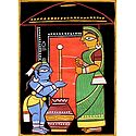 Krishna with Mother Yashoda - Photo Print of Jamini Roy Painting