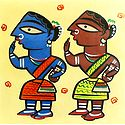 Rural Women - Photo Print of Jamini Roy Painting