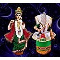 Manipuri Dancers - Unframed Multicolor Photo Print on Paper