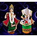 Manipuri Dancers Photo - Unframed Multicolor Photo Print on Paper