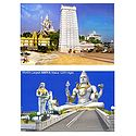Murdeshwar Temple and Shiva, India - Set of 2 Photo Prints
