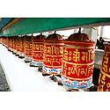 Prayer Wheels at Rumtek Monastery -  East Sikkim, India