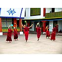 Monks at Rumtek Monastery - East Sikkim, India