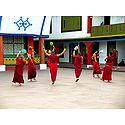 Monks at Rumtek Monastery - East Sikkim, India