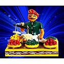 Vegetable Seller Photo - Unframed Photo Print on Paper