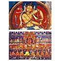 Bodhisattva Vajra and Amitabha with Entourage (Reprint of Medieval Painting) in Alchi Monastery, Ladakh - Set of 2 Postcards