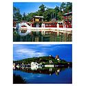 Suzhou Street, Rear Lake and the Summer Palace, China - Set of 2 Postcards