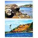 Ozrant Beach and River Sal, Goa - Set of 2 Postcards