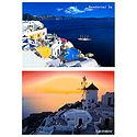 Santorini, Greece - Set of 2 Postcards