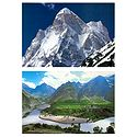 Shivling Peak and Tandi, Lahaul - Set of 2 Postcards