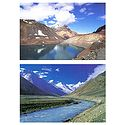 Suraj Tal, and Chandra River, Lahoul H.P - Set of 2 Postcards