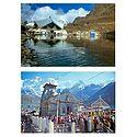 Hemkund Sahib and Kedarnath Temple - Set of 2 Postcards