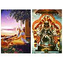 Narasinghavatar and Advaita Acharya - Set of 2 Postcards