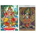 Lord Krishna & Radha Krishna - Set of 2 Postcards