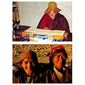 Monk and Elderly Women, Ladakh - Set of 2 Postcards