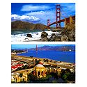 Golden Gate Bridge and Palace of Fine Arts, San Francisco - Set of 2 Postcards