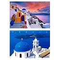 Santorini, Greece - Set of 2 Postcards