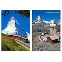 Matterhorn Peak and Gornergrat, Switzerland - Set of 2 Postcards