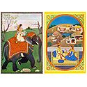 Ragini and Rajput Couple - Set of 2 Postcards