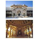 Amber Fort and Dilwara Jain Temple in Rajasthan - Set of 2 Postcards