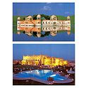 Jal Mahal and Khimsar Fort Hotel at Rajasthan - Set of 2 Postcards