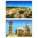 Chittorgarh Fort and Kirti Stambha, Chittorgarh - Set of 2 Postcards