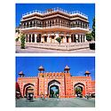 Mubarak Mahal and City Gate, Jaipur - Set of 2 Postcards