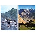 Spiti Valley, Himachal Pradesh and Rizong Monastery, Ladakh - Set of 2 Postcards