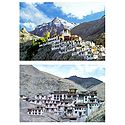 Rizong Monastery & Diskit Monastery, Ladakh - Set of 2 Postcards