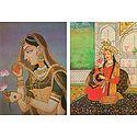 Rajput Princess and Mumtaz Mahal - Set of 2 Postcards