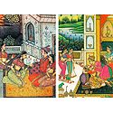 A Prince with his Consort in a Love Scene and A Prince in a Love Scene inside his Harem - (Set of Two)