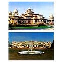 Albert Hall Museum and Rambagh Palace, Jaipur - Set of 2 Postcards