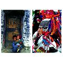 Brokpa Lady and Tribal Children from Ladakh - Set of 2 Postcards