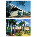 Bharat Nivas and Auroville Visitors Centre in Pondicherry - Set of 2 Postcards