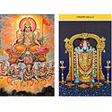 Sun God and Balaji - Set of Two Postcards