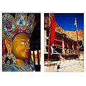 Lord Buddha and Hemis Gompa, Ladakh - Set of 2 Postcards