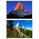 Matterhorn from Zermatt and Gornergrat, Switzerland - Set of 2 Postcards