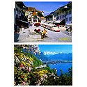 Gruyeres and Le Chateau de Chillon, Switzerland - Set of 2 Postcards