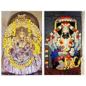 Goddess Chamundeswari and Lord Narasimha Swamy - Set of 2 Poscards