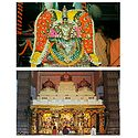 Goddess Radharani and Radha Krishna in Temple - Set of 2 Postcards