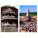 Belur Temple and Sri Ranganatha Swamy Car Festival - Set of 2 Postcards