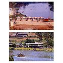 Mini Train and Lake View, Ooty - Set of 2 Postcards